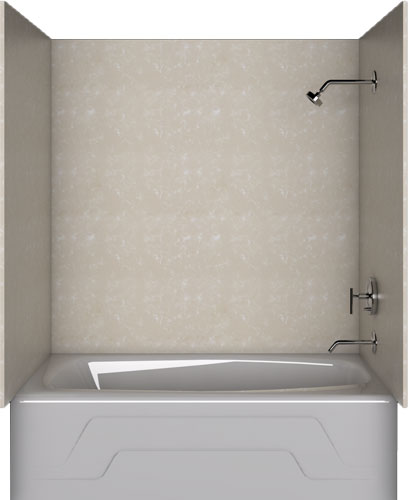 Generic Bath Bath Enclosure Set PMW-BOTTICINO CREAM