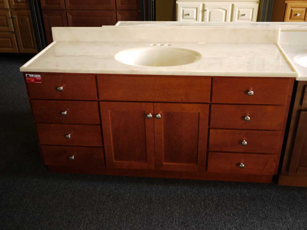 Bathroom vanities closeouts and discontinued for Cabinets and vanities