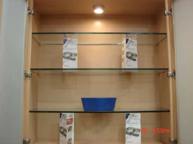 Cabinet Hardwares Roll Out Tray Glass Shelf Sincere