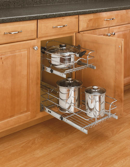 Base Cabinet Pullout 2 Tier Wire Basket