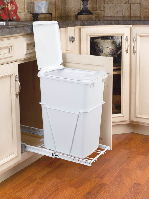 under kitchen sink garbage can cabinet hardwares roll out tray glass shelf sincere 8695
