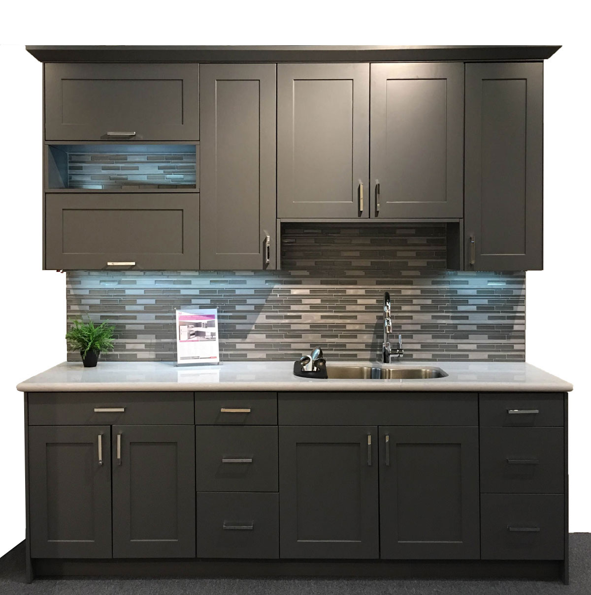 You Assemble Kitchen Cabinets: Revolution American --- Matte Gray Cuppertino