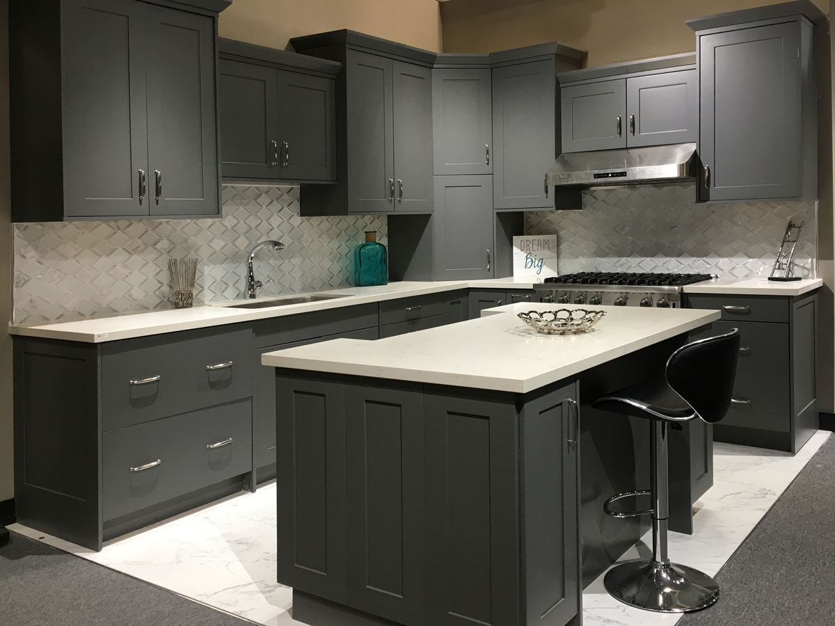 Revolution American Matte Gray Cuppertino - Matte grey kitchen